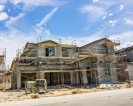 Stucco Phase Of  New Home Construction