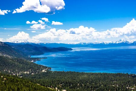 Shoreline Of Beautiful Lake Tahoe Stockfoto