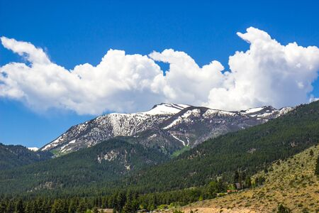 Snow Covered Sierra Nevada Mountains In Spring
