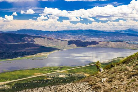 Overlooking Washoe Lake In Sierra Nevada Mountains In Springtime