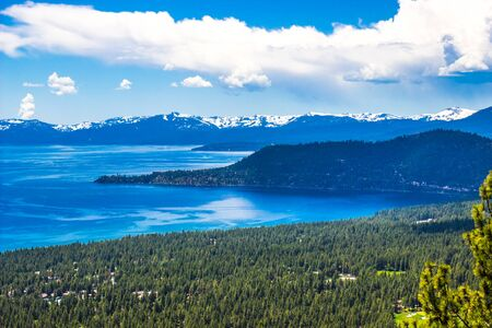 Peninsula Jutting Out Into Lake Tahoe