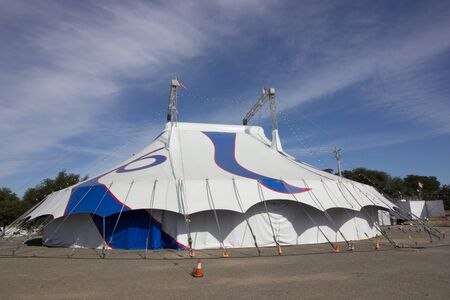 Large Blue And White Circus Big Top Tent