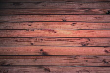 Red Wooden Plank Background With Grain & Knot Holes