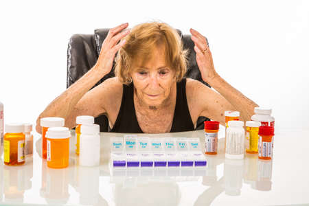 Woman Confused Of All Her Pills To Fit In Large Pill Box