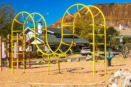 Children's Playground Equipment Including Unique Climbing Apparatus