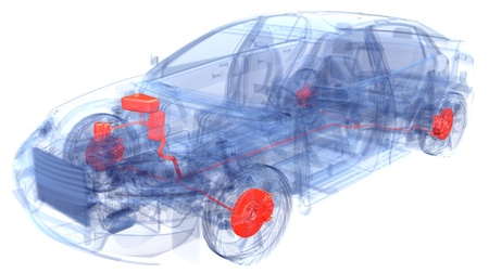 A Virtual Car Computer Graphic