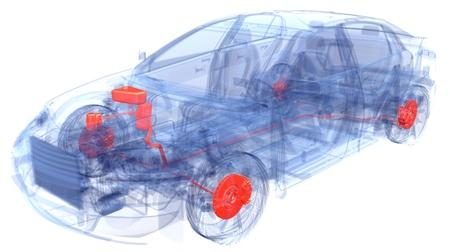 Een Virtual Car Computer Graphic