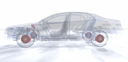 A Virtual Car  Computer Graphic Banco de Imagens - 17970010