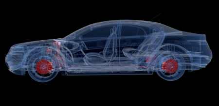 transparent system: A Virtual Car  Computer Graphic
