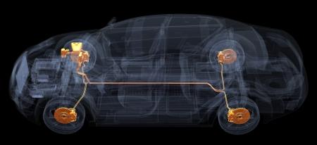 A Virtual Car  Computer Graphic Banco de Imagens - 17970015