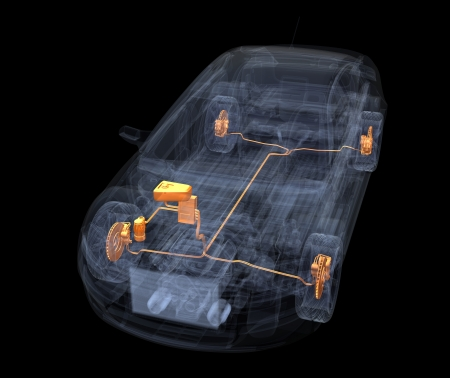 A Virtual Car  Computer Graphic Banco de Imagens - 17970007