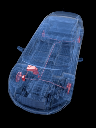 A Virtual Car  Computer Graphic Banco de Imagens - 17970003