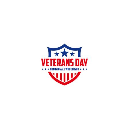 Vector design of Veterans Day template writing