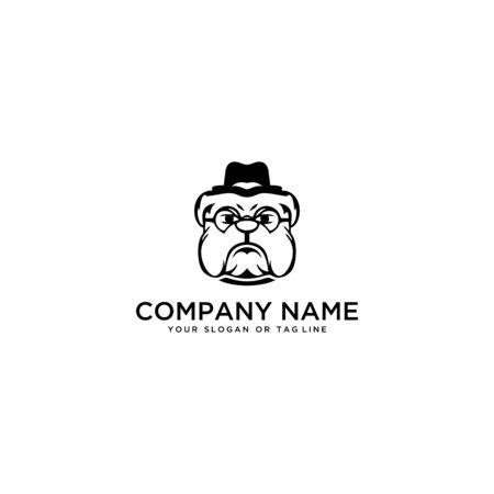 logo design Bulldog vector template white background