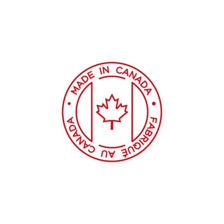 logo design concept made in canada vector template Logo