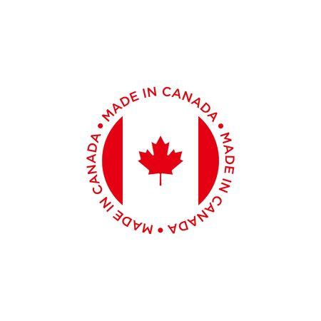 logo design concept made in canada vector template