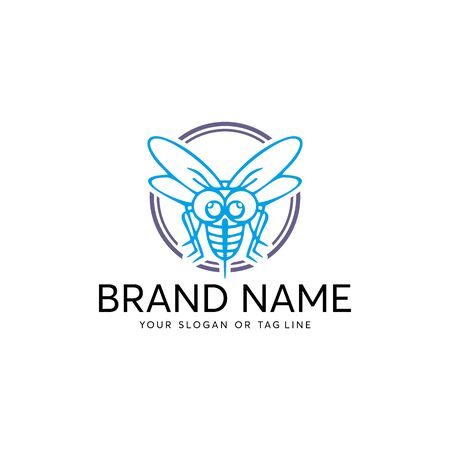 mosquito logo design vector template white background