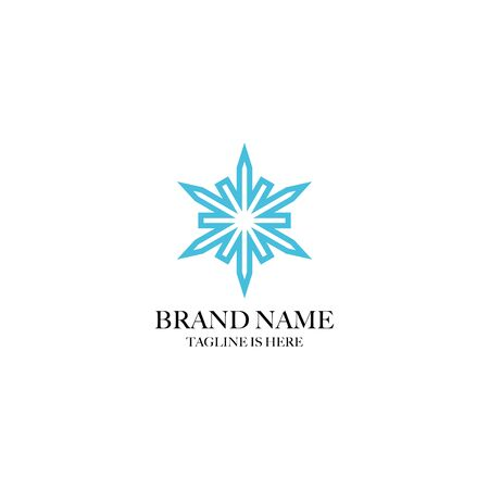 creative six star design logo, element six white background Çizim