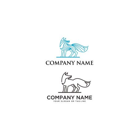 Wolf Logo vector template design with a white background