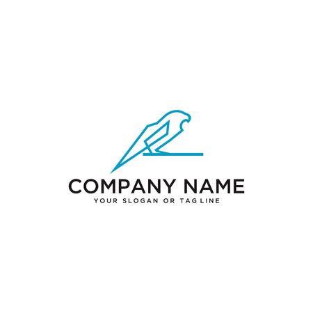 bird logo design vector template with a white background
