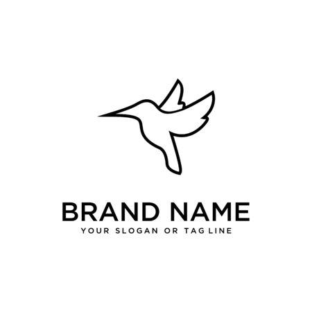 bird design logo vector white background template