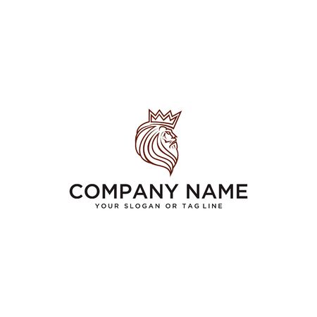 Lion logo design vector template with a white background Banque d'images - 138040906