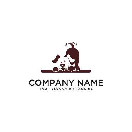 dog logo design vector template with white background