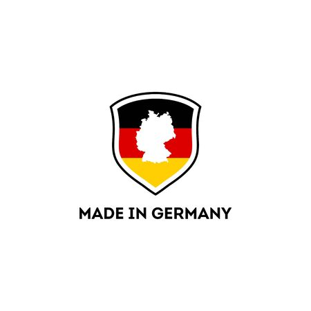 logo design concept made in germany vector template