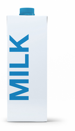 Milk pack without brand Archivio Fotografico - 103216479