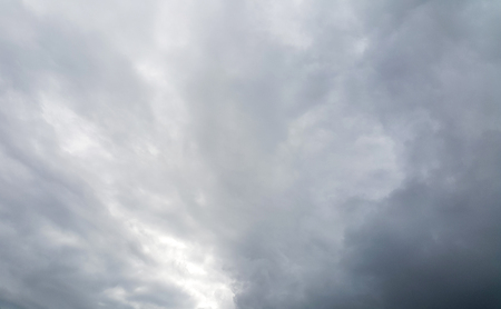 clouded: clouded sky before a storm