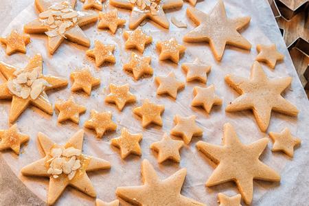 Christmas day. Christmas cookies. Cooking Christmas cookies.