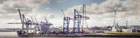 Port panorama Hamburg