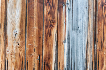 Silver wood plank and a nail