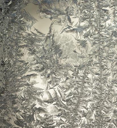 Frozen ice flowers on a window Stock Photo