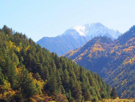 Beautiful Lake and Mountain Jiuzhaigou. Nature Reserved. National Park. .Chengdu , Sichuan, China. Stunning View