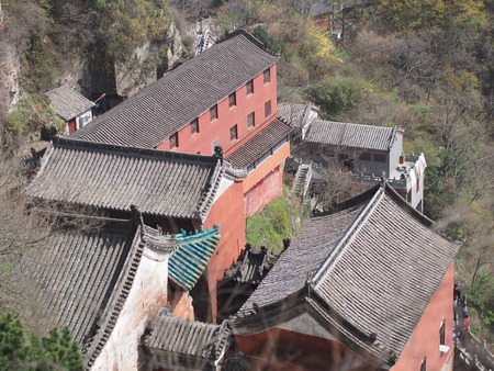Wudang Temple and Wudang Mountaing. The Origin of Chinese Taoist Martial Art called Tai Chi.  Travel in Hu Bei Province, China. in 2014, 16th April.