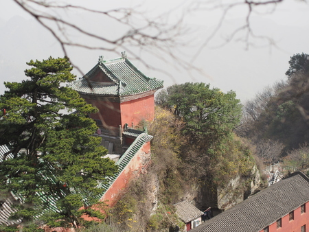 Wudang Temple and Wudang Mountaing. The Origin of Chinese Taoist Martial Art called Tai Chi. Travel in Hu Bei Province, China.