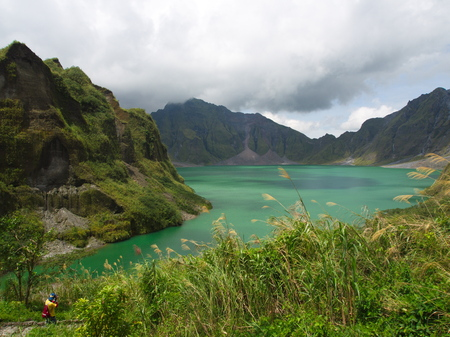 The Sulfur Lake of Pinatubo Volcano. Travel in Clark, Philippines in 2013, 21th July.