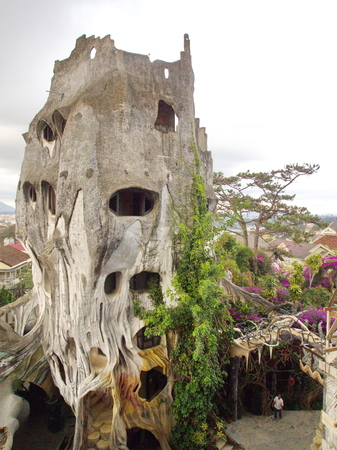 Crazy House in Dalat City,the Central Highlands of Vietnam in 2012. 5th December