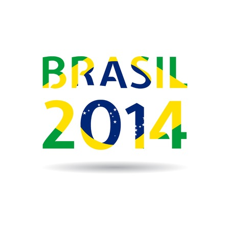 brasil: Illustration Brasil 2014.