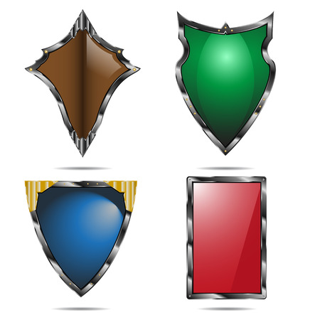 shield set: Shield set isolated on white