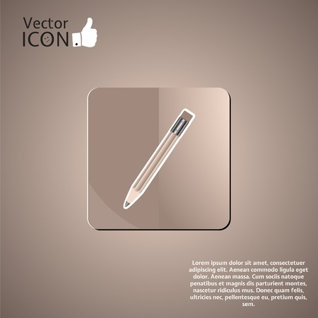 pensil: Pencil button on the background