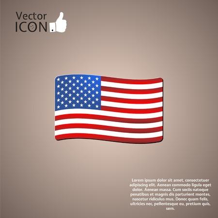 vector raster background: United States flag.