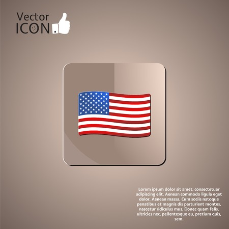 United States flag. Vector