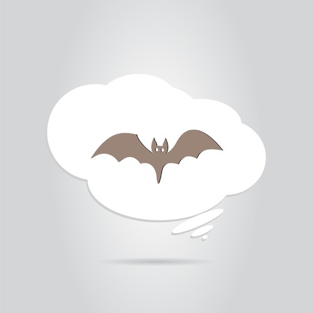 horrify: Icon bat. Happy Halloween holiday. Made in vector