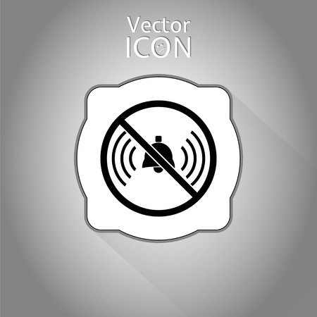 ringer: Turn off phone ringer icon. Made in vector