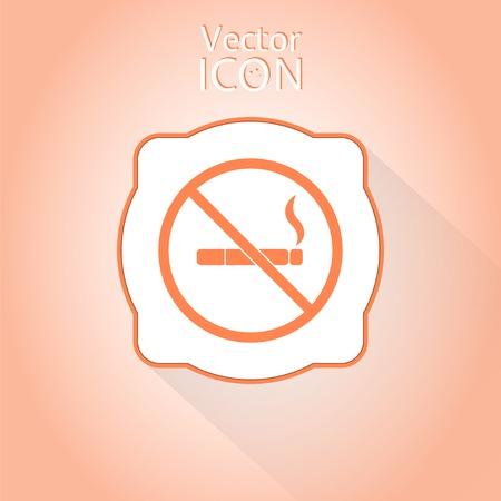 smoldering: Nessun segno di fumare. Made in vettoriale Vettoriali