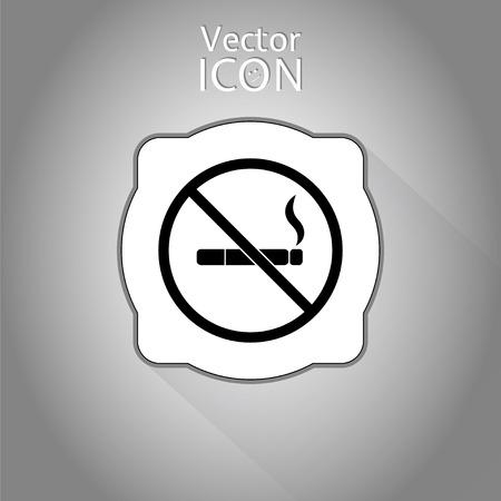 pernicious: Muestra de no fumadores. Made in vector