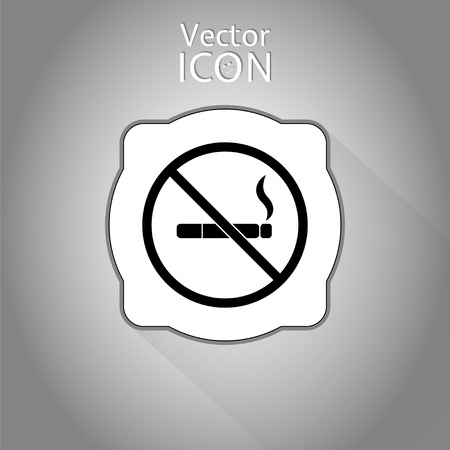 smoldering cigarette: No smoking sign. Made in vector