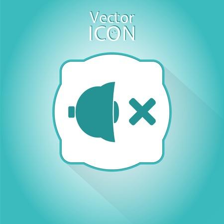 No sound symbol. Made in vector Vector
